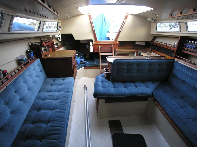 Catalina 30 salon looking aft