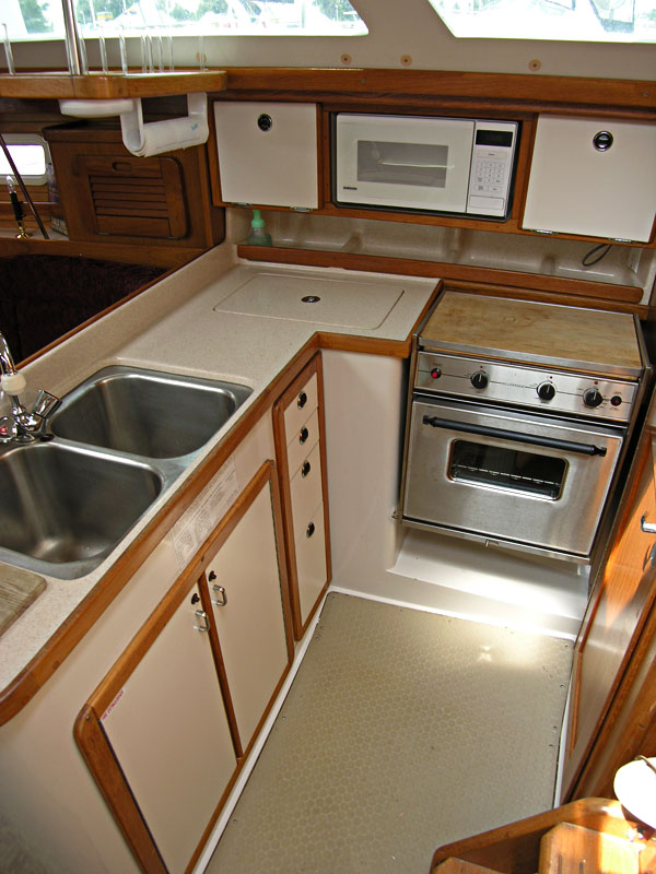 Catalina 34 Mark II galley