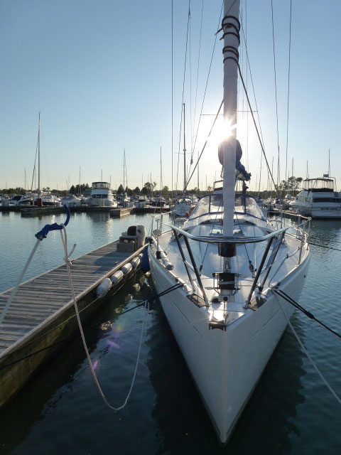 Beneteau gleaming in the sun