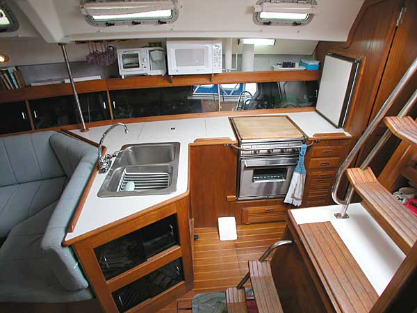 Click here for larger image of Hunter 40 galley